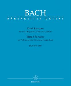 Bach, JS - 3 Gamba Sonatas BWV 1027 1029 for Viola and Piano - Barenreiter Verlag URTEXT Edition